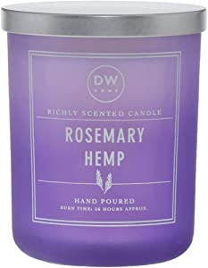 DW Home Rosemary Hemp Hand Poured Double Wick Candle 15.1 oz