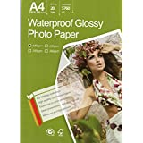 "Premium Glossy Inkjet Photo Paper 8.3""x11.6"" A4 Size 20 sheets weight 180gsm"