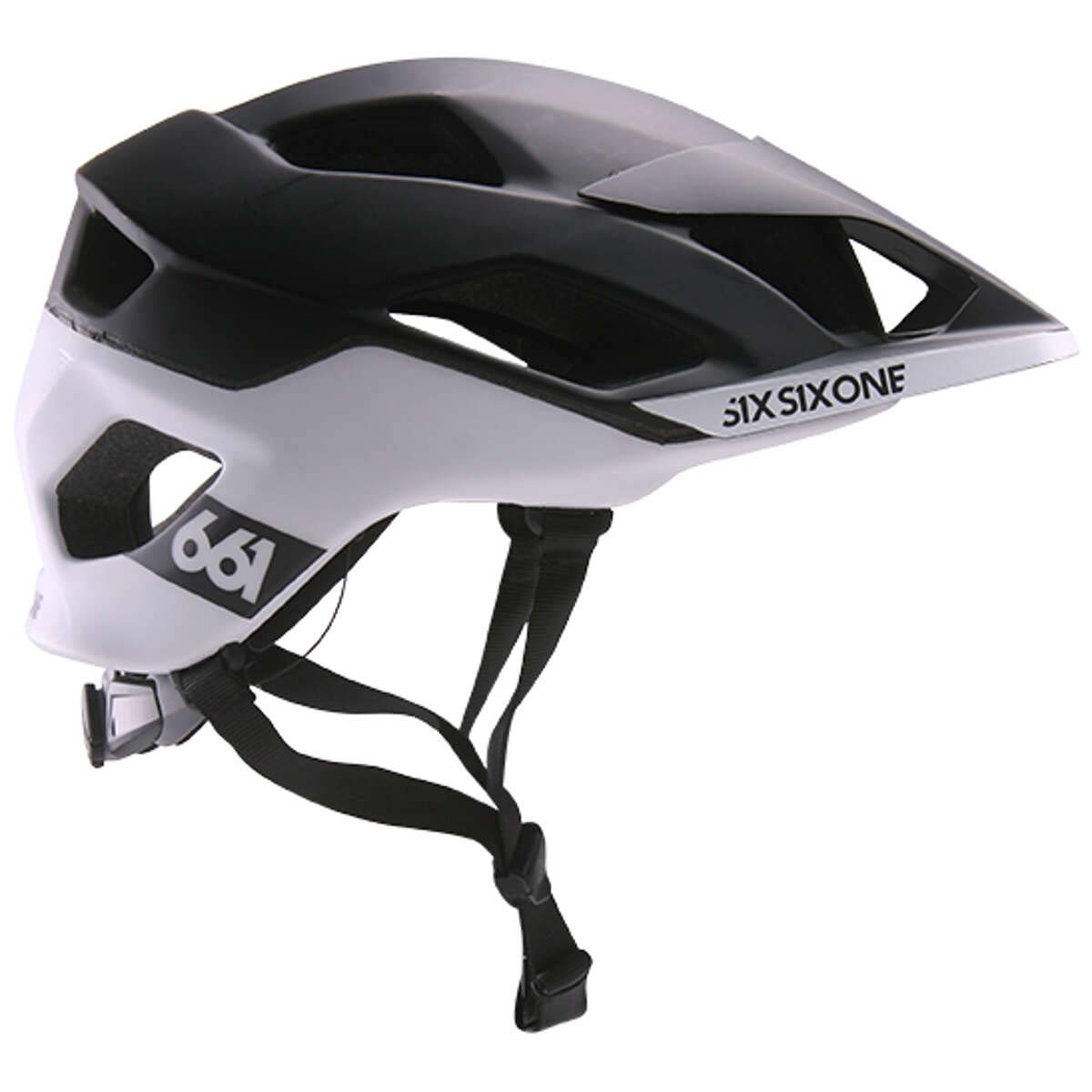 Sixsixone Evo AM Patrol Casco, Black/White, XS de S