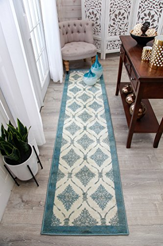 Modern Blue Rug 2x8 Hallway Runner White Rugs Cream Blue Black Gray Kitchen Runners 2x7 Narrow Hall Way Contemporary Carpet For Hallways (Hall Gray)