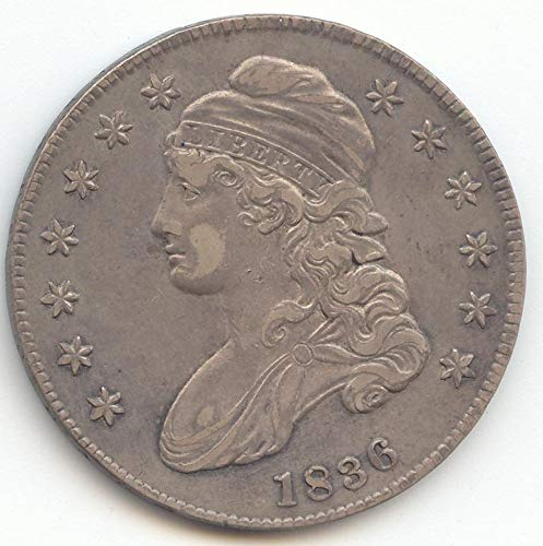 1836 Capped Bust Half Dollar Extra Fine Details