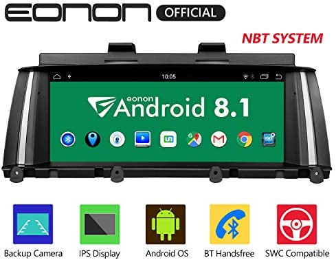 Eonon Android 8.1 Car Stereo, Car Radio with 8.8 inch IPS display Screen Support Android Auto, Carplay, Applicable to BMW X3 F25 X4 F26 2014-2016 NBT Compatible With iDrive System Head Unit- GA9205NB