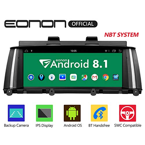 8.8in Rear Support - Eonon Android 8.1 Car Stereo, Car Radio with 8.8 Inch IPS Display Screen Support Android Auto, Apple Carplay, Applicable to BMW X3 F25/X4 F26(2014-2016) NBT Compatible with iDrive System - GA9205NB