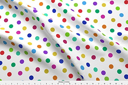 Confetti Dots Cotton Fabric (Confetti Fabric Confetti Dots by Weavingmajor Printed on Organic Cotton Knit Ultra Fabric by the Yard by Spoonflower)
