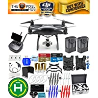 DJI Phantom 4 Pro+ Black Obsidian Edition Drone Pro Bundle With Aluminum Case, Vest Strap, Extra Props, Filter Kit Plus Much More (2 Batteries)