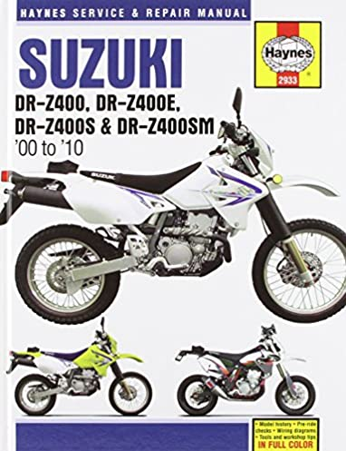 suzuki dr z400 dr z400e dr z400s dr z400sm 00 10 haynes rh amazon com DRZ400SM drz400s owners manual