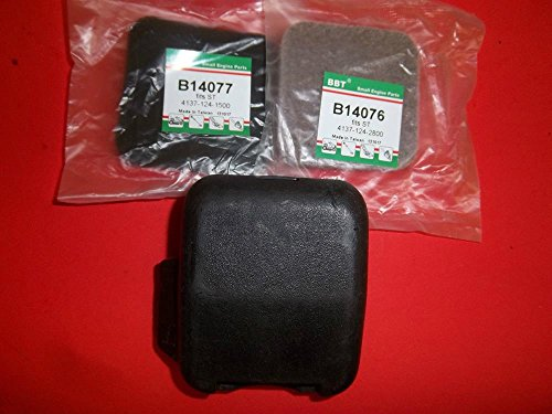 Outdoor Power Equipment STIHL AIR FILTER COVER & AIR FILTERS FITS KM85 FS85 FS80 FC85 FC75 14076 14077