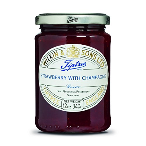 Tiptree Strawberry and Champagne Preserve, 12 Ounce Jar