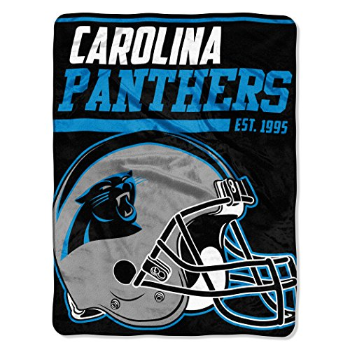 "The Northwest Company NFL Carolina Panthers 40-Yard Dash Micro Raschel Throw, 46"" x 60"", Panther Blue"