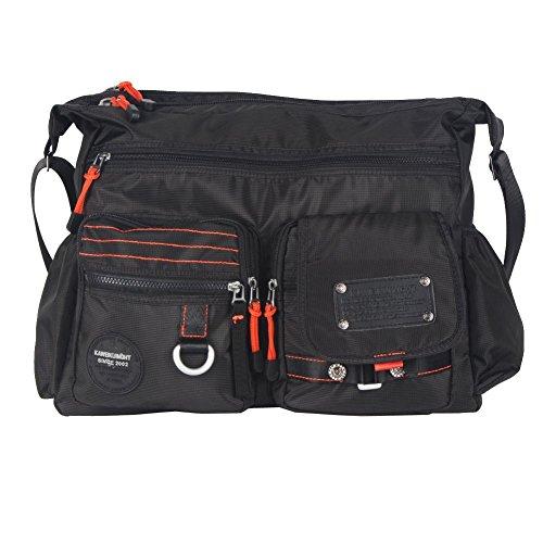 Innturt Large Messenger Bag Shoulder Bag Pack Tote Travel Daypack Black 15