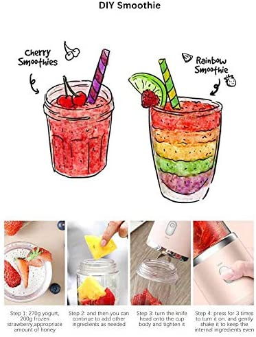 Sans fil Électrique Portable Juicer 400 ml Automatique Multifonctionnel Mini USB Rechargable Juice Cup Blender Cut Mixer Pour La Maison