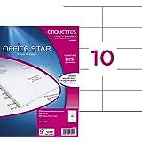 Office Star Boite de 1000 Etiquettes - Multi-Usages -105X57mm - Blanc (OS43425)