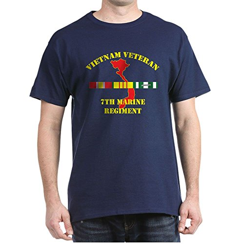 (CafePress 7Th Marine Regiment T-Shirt 100% Cotton T-Shirt Navy)