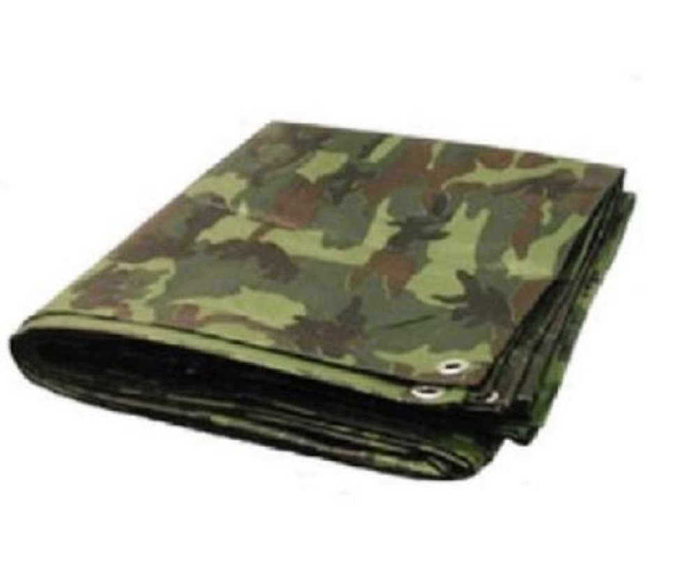 Golden Valley Tools & Tarps 10' x 16' Premium Green CAMO/Camouflage / 8 mil Poly TARP (Finished Size Approx. 9'6'' x 15'6'') …