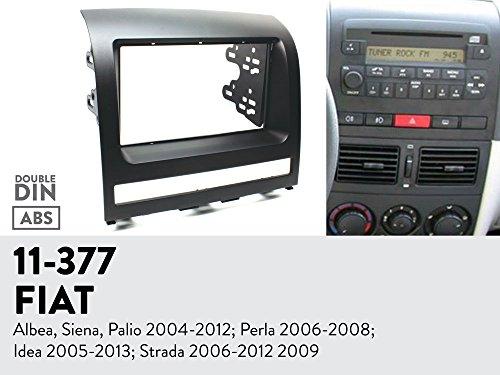 UGAR 11-377 Trim Fascia Car Radio Installation Mounting Kit for FIAT Albea, Siena, Palio 2004-2012; Perla 2006-2008; Idea 2005-2013; Strada 2006-2012