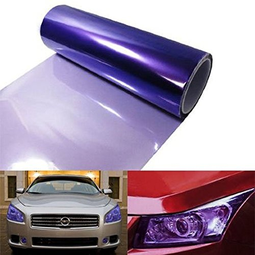 12 by 48 inches Self Adhesive 12000K Purple Headlights, Tail Lights, Fog Lights, Sidemarkers Tint Vinyl Film (Purple Film For Fog Lights compare prices)