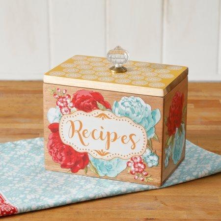 acacia recipe box - 6