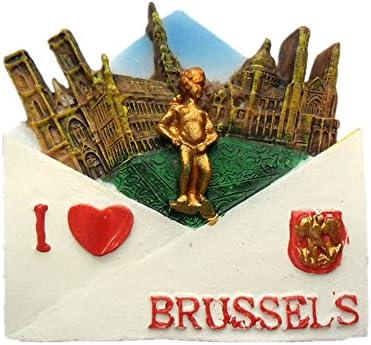 UmerBee Imanes para Nevera de Las Ciudades Nacionales de Bruselas ...
