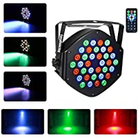 Stage Lighting Par Light 36 x 1W LED RGB 7 Channel with Remote for DJ KTV Disco Party Bar (1 PC) By EasyDancing