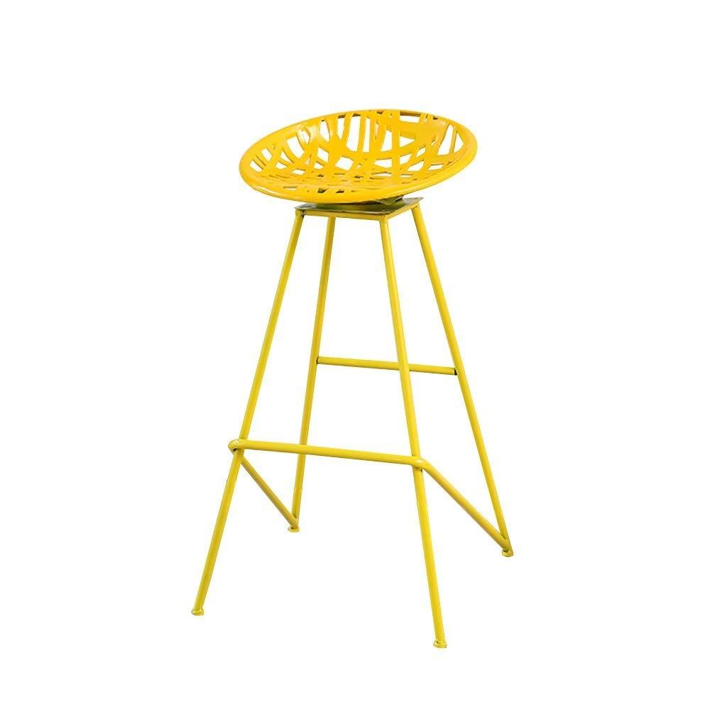 Yellow Iron High Stool Bar Stool redating for Bar Stool Decoration Stool Home Stool Multi color Optional (color   Yellow)