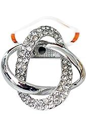 Maikun Round Rhinestone Brooch Scarf Ring