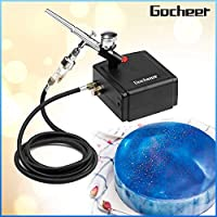 Gocheer Mini Airbrush Kit Dual-Action Air Brush Pen Gravity Feed Airbrush Makeup