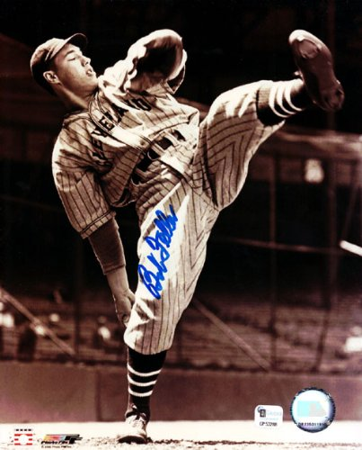 Bob Feller Autographed 8x10 Photo Cleveland Indians MCS Holo Stock #60523