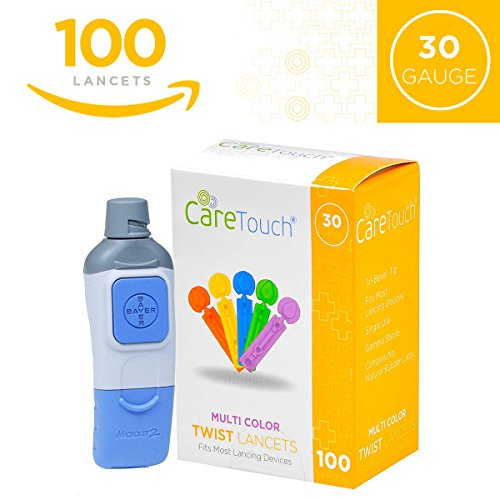 Care Touch Lancets (Microlet Device + 100 Colored Lancets)