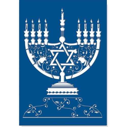 Menorah Laser Cut Small Boxed Holiday Cards (Hanukkah Cards, Greeting Cards, Holiday - Menorah Laser