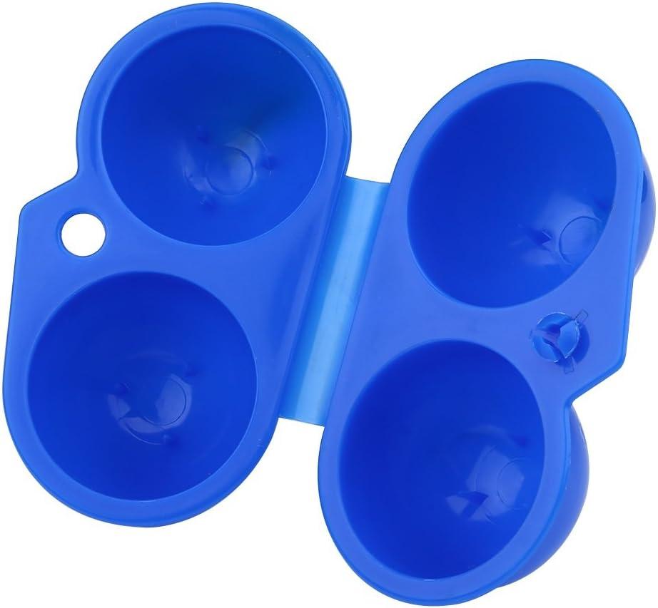 2x 2er Set Ei Aufbewahrungsbox Tragbar Ei Beh/älter f/ür Outdoor Camping Picknick Wandern Schule Farbe : Blau