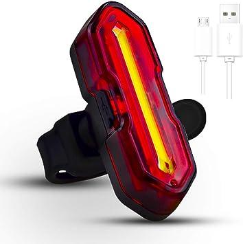 Luz LED De Bicicleta USB Recargable 4 Modos A Prueba De Agua Deporte LUMINOSA