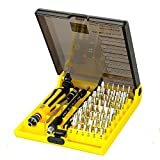45 in 1 Mobile Phone Repair Tools Kit Screwdriver Set Kit With Tweezers and Extension Shaft For Computer Cell Phone Clock Watch Electronics-Repair Tool Set (JK6089C)