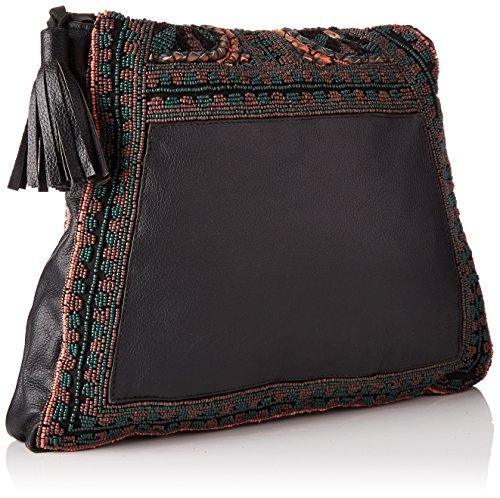 Antik Batik Zitha Bag - Borse a tracolla Donna, Noir (Black), 5x25x33 cm (W x H L)