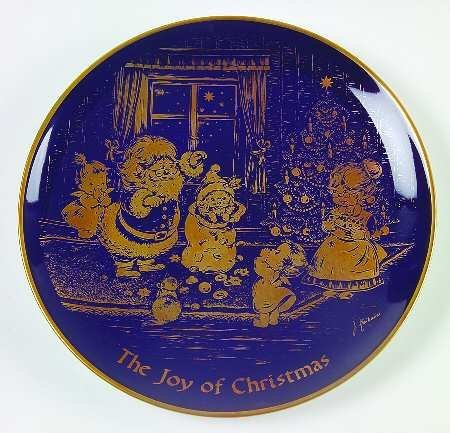 Limited Edition Plate (1976 Christmas Plate Limited Collector Edition by Lihs Lindner West Germany)