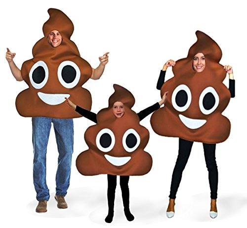 Favorite Emoticon Emoji Costumes for Boys and Girls (Adult, Poo)