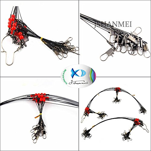 Jshanmei 12pcs lot stainless steel wire fishing leaders for Steel fishing leader
