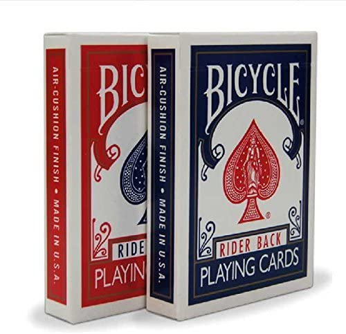 Bicycle Orange Rider Back Deck Poker Spielkarten