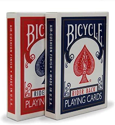 Bicycle Orange Rider Back Deck Poker Spielkarten