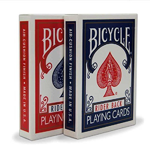 2 Decks Bicycle Rider Back 808 Standard Poker Playing Cards Red & Blue (Bicycle Deck Playing Cards)