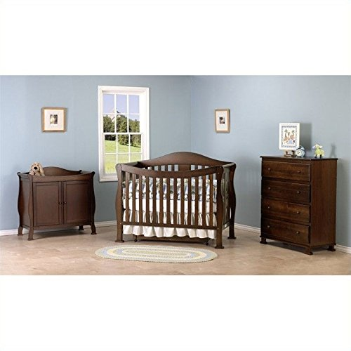 Davinci Parker 4 In 1 Convertible Wood Baby Crib With Toddler Rail In Coffee
