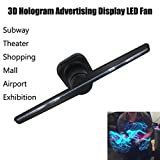 3D Hologram Full Color Video Display Advertising Holographic Imaging 3D Naked Eye LED Fan, Support Video/Images/Text,Indoor Outdoor Advertising For Shop, Bar, Casino, Restaurant