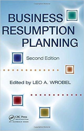 Business resumption planning leo a wrobel 9780849314599 amazon business resumption planning 2nd edition friedricerecipe Images