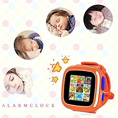 Kids Smart Watch Game Smartwatch with Mini Camera Alarm Clock Timer Health Monitor Pedometer Photo Sticker Learning Toys for Boys and Girls Age 3-12 yrs(Orange)