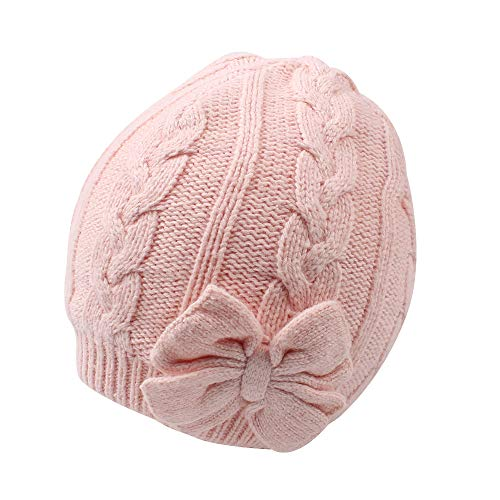 Baby Girls Knit Hats Toddler Infant Beanie Caps Autumn Winter Warm Skull Hood Cap for 0-2T