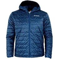 Columbia Men's Crested Butte Omni-Heat Hooded Jacket (Marine Blue Printed, M)