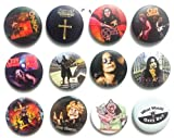 The Bigger Vivider 1.75'' Lot 12 Awesome Pin Button Badge OZZY OSBOURNE John #2