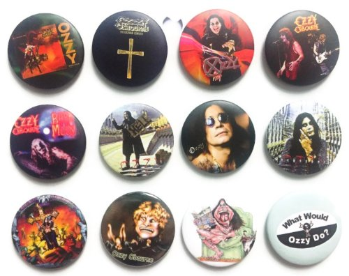 The Bigger Vivider 1.75'' Lot 12 Awesome Pin Button Badge OZZY OSBOURNE John #2 by Unknown
