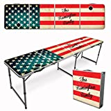 Infusion Custom 8-Foot (Regulation Size) Premium Folding Beer Pong Travel Table - American Flag