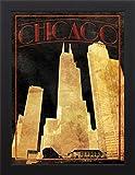 18x24 Gold Chicago by Grey, Jace: Studio Black JG-RC-592A