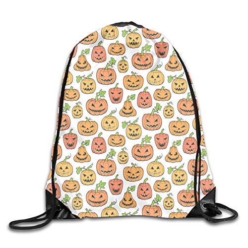 TPSXXY Halloween Scary Pumpkin Large Christmas Drawstring Bag Santa Present Bag Basket Gifts Sack